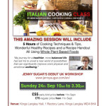 Cucina Italiana Vegan Whole, Workshop A Londra